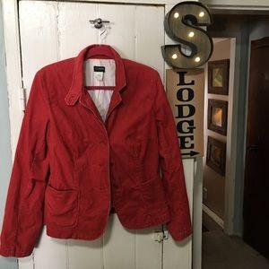 J. Crew sienna orange Corduroy jacket 14